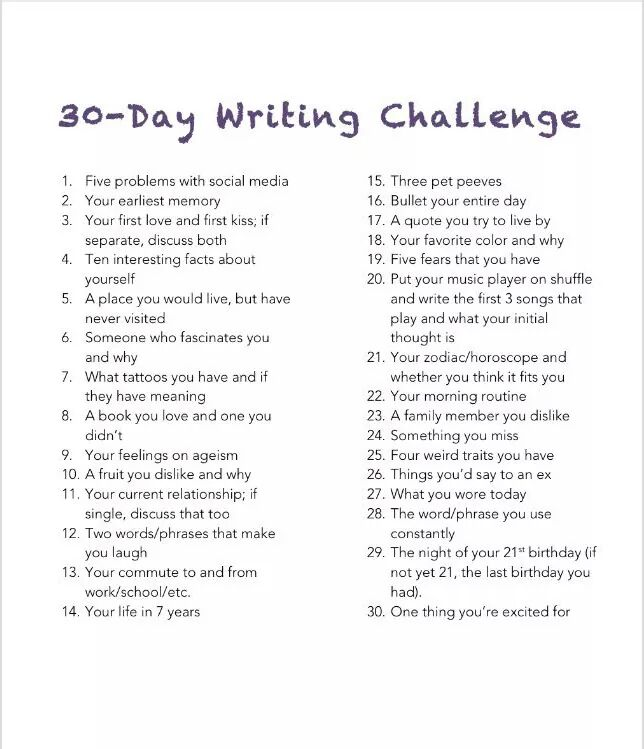 30 Day Writing Challenge-What You Wore Today – Poetic Trials
