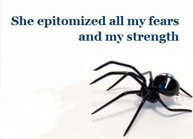glass spider creeping